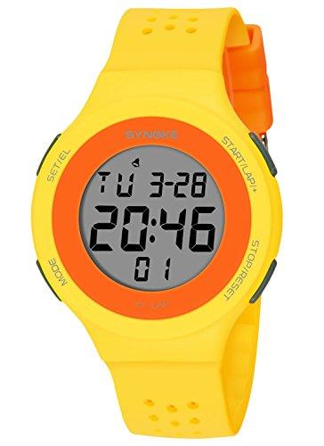 Reloj amarillo Digital Deportivo Ultra-delgado