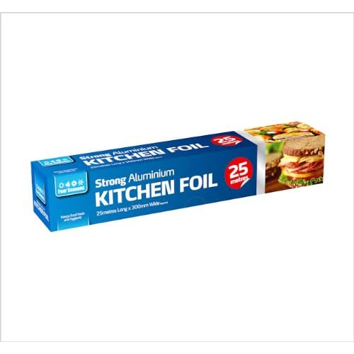 Aluminium Kitchen Catering Foil Food GRADE Bake Oven Wrap 300mm X 75m 1 Roll