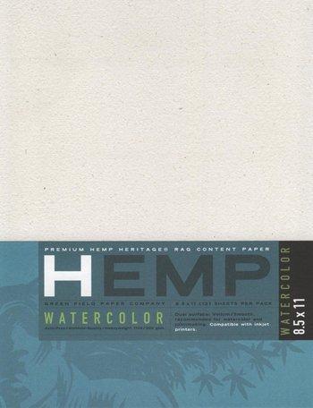 Hemp Watercolor Paper Pack 8.5' x 11'