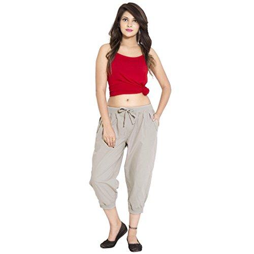 GOODWILL Women's Regular Fit Capri (GW-743_S_Grey_Small)