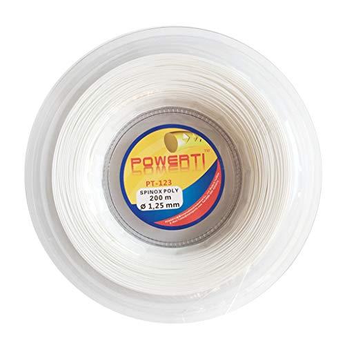 Milageto Juego de Reparación de Líneas de Líneas de Raqueta de Elasticidad con Cuerdas Texturizadas de Tenis de Calibre 17 - Blanco