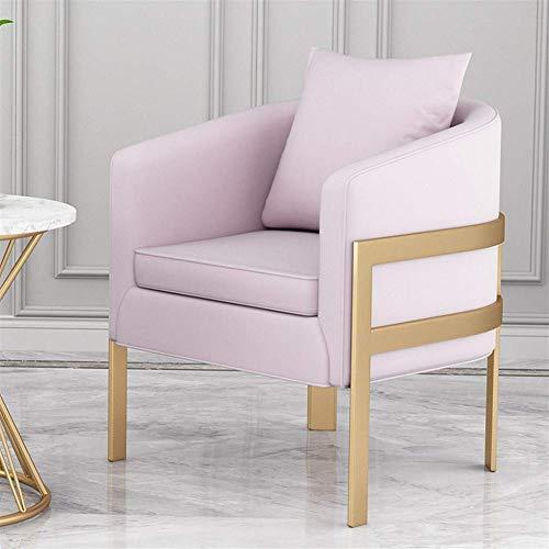 N/Z Home Equipment Nordic Besucher diskutieren Sofa Light Iron Sofa Sofa Wohnzimmer Empfang Nagel Shop Freizeit Einzelsofa (Farbe: B)