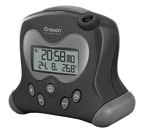 Oregon Scientific RM313PNF - Reloj Proyector con alarma (Snooze) y temperatura interior de color negro