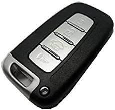 WFMJ Replacement Keylss 4 Buttons Smart Key Shell Case Fob for Hyundai Sonata Elantra Genesis Veloster No Chip