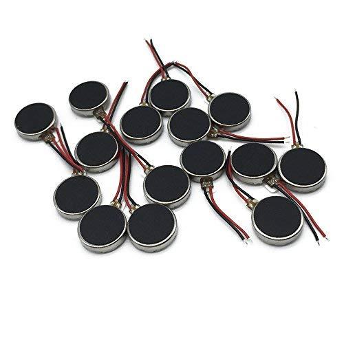 15 unidades 10 x 3 mm Mini motores de vibración DC 3 V 12000 rpm plano Pieza de botón tipo Micro DC Motor Vibrador para teléfono móvil, tablet, electrodomésticos