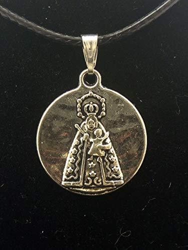 Colgante Medalla en Zamak metalizado y Acero, Virgen de Guadalupe