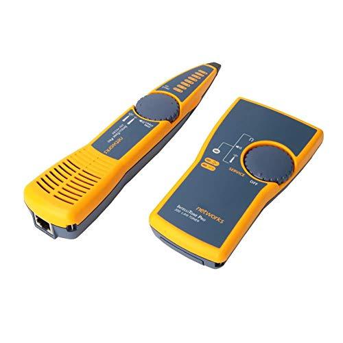Toner Tracer Line Finder Cable de audio inteligente Toner mejorado Redes digitales profesionales probador de cables Detector de cables para interiores para el probador de línea telefónica