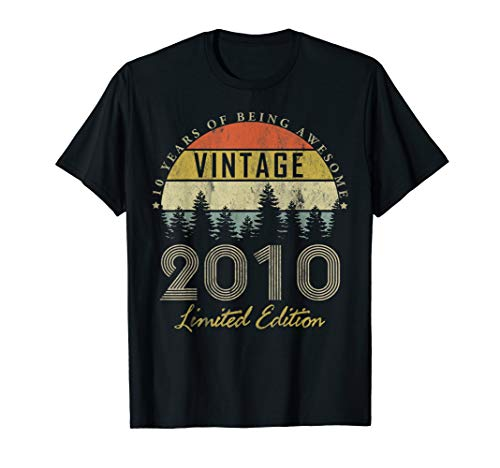 10 Year Old Gifts Vintage 2010 Limited Edition 10th Birthday T-Shirt
