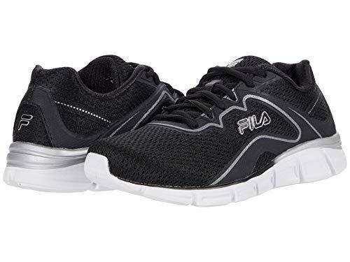 Fila Women's Memory Vernato 5 Shoes Black/White/Silver 10