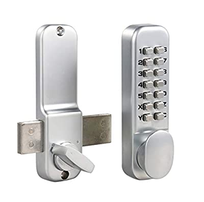 MUTEX Mechanical combination door lock surface mount deadbolt 14 Digit Keyless entry, for doors and gates MX250