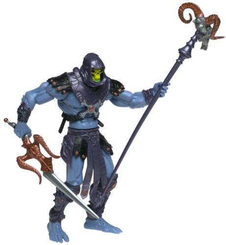 Skeletor von Masters of The Universe Skeletors Gefolgschaft  mit Waffen und beweglichen Teilen.