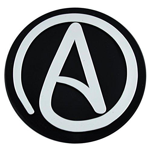 Circle A for Atheist Plastic Auto Emblem - [Silver][3'' x 3'']