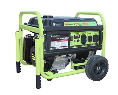 America  Dual Fuel Generator-10,000 Watts Generator - Green-Power GN10000DEW