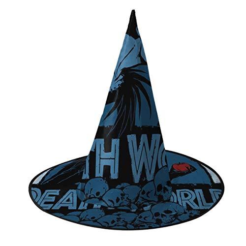 NUJIFGYTCRD Ryuk Shinigami God of Death Note Jurassic Park Sombrero de Bruja Unisex Disfraz para día Festivo Halloween Navidad Carnaval Fiesta