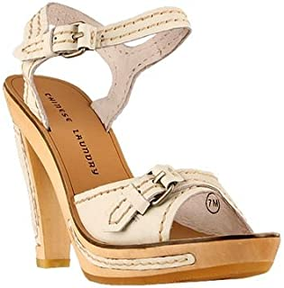 Chinese Laundry womens Ankor platforms sandals, White, 9 US