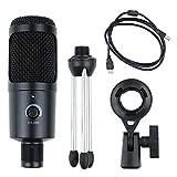 NOBRAND LNJJ Kit de micrófono de estudio con condensador USB para ordenador Microfono PC Karaoke Kits de micrófono con soporte para Youtube grabación de juegos Mac