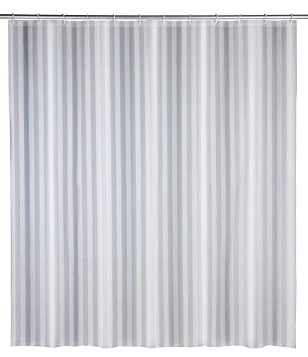 WENKO Duschvorhang Frozen - wasserdicht, leicht zu pflegen, Polyethylen-Vinylacetat, 180 x 200 cm