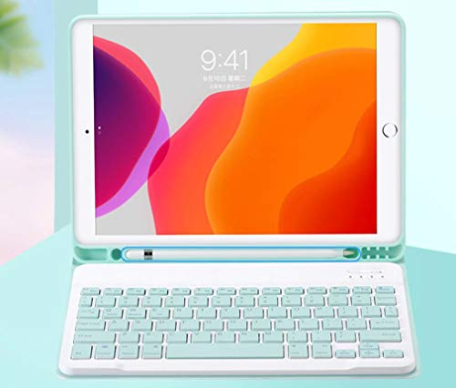 CONCEPT KART™ Bluetooth Wireless Keyboard Case, 7 Color Backlit Keyboard with Pencil Holder and Wireless Detachable Keyboard (iPad air/air2, New iPad 9.7, iPad Pro 9.7)