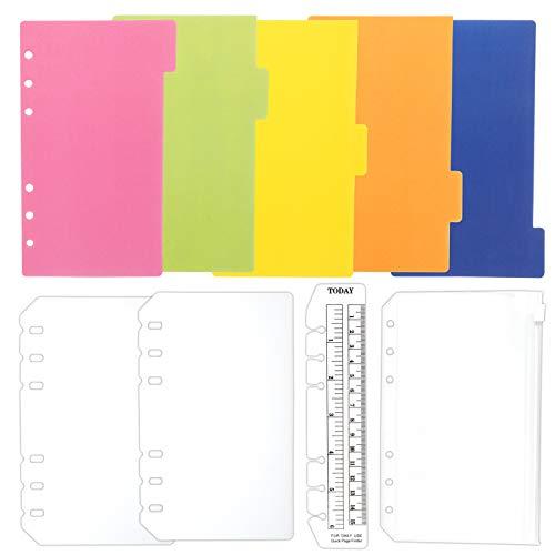 TSUKURIRO 無地 プラスチック インデックス 4種セット しおり定規 クリアポケット リフィル 保護 カバー (B6,バイブルサイズ対応)