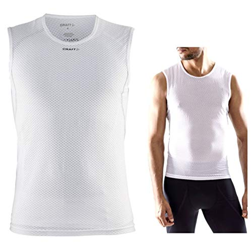 Craft Cool Mesh Camiseta Interior para Hombre, Hombre, White, L
