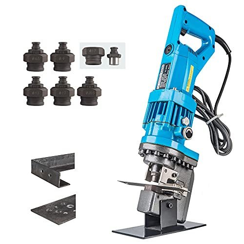 Bonvoisin Hydraulic Hole Puncher Electric Hydraulic Punching Machine Metal Hole Punch Tool 1200W with 5 Dies Set for 3-6MM Steel Iron Copper Aluminum Plate Angle Steel(JP-20)