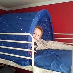 Amazon Com Customer Reviews Ikea Kura Childrens Canopy For Bed Blue