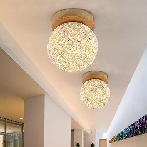 Lamp wandlamp wandlampen buitenlamp restaurantgang portale balkon herkenvenster van Scandinavische feesten houten persoonlijkheid creatieve moderne eenvoudige rotan plafondlamp