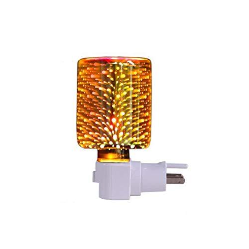 advancethy Duftwachs-Wärmer mit 3D-Glas, elektrisch, Duftwachs, Kerzenschmelzer, Nachtlicht für Geschenke und Dekoration, Zuhause, Büro, Schlafzimmer, Wohnzimmer (3D-Feuerwerk)