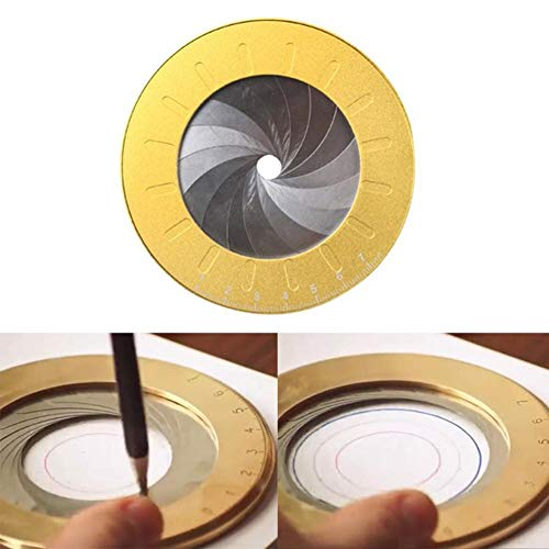 Ritapreaty Cirkel Tekening Tool, Verstelbare Draagbare Kleine Tekening Gereedschappen voor het tekenen van cirkels, draaibank, Ontwerper Houtbewerking Enthousiasten, 4.9 inch
