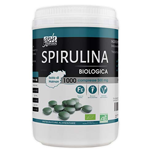 Spirulina Biologica 500mg - 1000 compresse