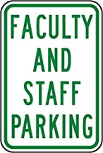 Supvivi Faculty and Staff Parking Sign, Metal Warning Signs Private Property,Danger Safety Sign Plaque,Gate Sign,8