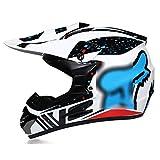Casco de moto de campo traviesa con gafas + guantes + conjunto de máscara. Las salidas de aire son...