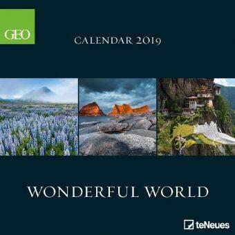 Wonderful World - Broschurkalender - Kalender 2019 - teNeues-Verlag - GEO - Wandkalender mit beeindruckenden Bildern aus der Natur und Platz für Eintragungen - 30 cm x 30 cm (offen 30 cm x 60 cm)
