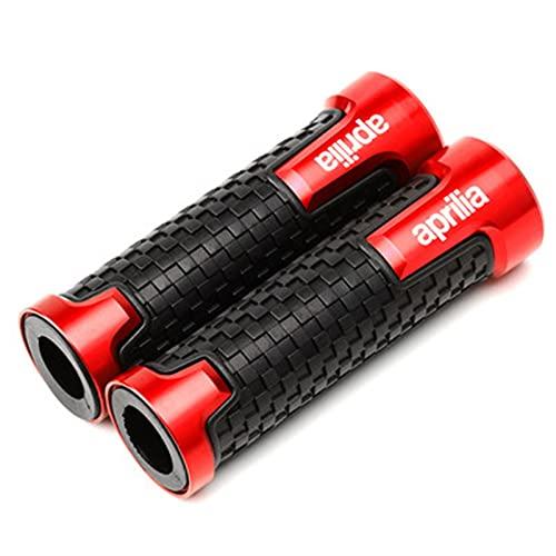 QASUF Accesorios de Motocicleta Tapas de válvulas de neumático de Rueda y agarres de Manillar para Aprilia RS125 RS 125 1996-2005 RS660 CAPONORD / ETV1000 (Color : HG Red)