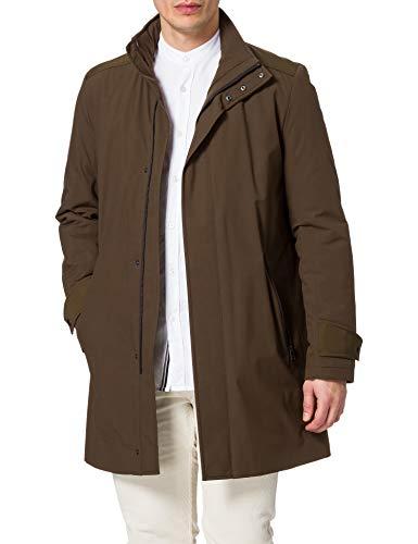 HUGO Menco2041 Abrigo de Vestir, Marrón Oscuro (205), 54 para Hombre