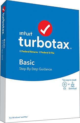 [Old Version] TurboTax Basic 2019 Tax Software [PC/Mac Disc]