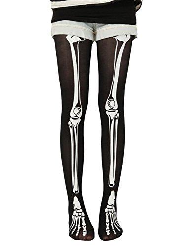 THEE Vampir Zombie Skellet Strümpfe Socken Halloween Karneval Fasching Fastzeit Kostüm