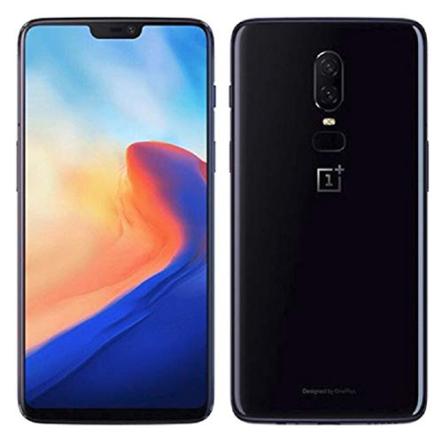 OnePlus 6 A6000 64GB/6GB Mirror Black - Dual Back Cameras, Face & Fingerprint Identification, 6.28', Android 8.1 - International Version - No warranty in the USA - GSM ONLY, NO CDMA (Renewed)