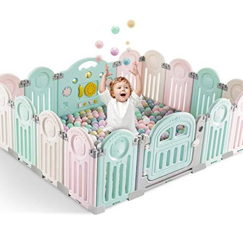 Best Deals! L.HPT Kids Childrens Christmas Toys Gift Foldable Playpen Kids Toddler Activity Centre S...