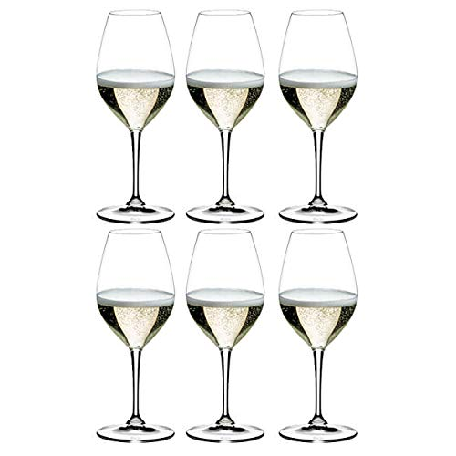 Riedel Vinum Champange - Juego de 6 copas de vino (364 ml)