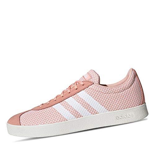 adidas VL Court 2.0, Zapatillas Mujer, Rosa (Glow Pink/Footwear White/Cloud White 0), 39 1/3 EU