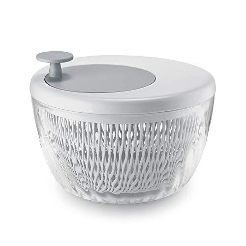 Guzzini Spin e Store Kitchen Active Design Salatschleuder, Weiß, 26 cm