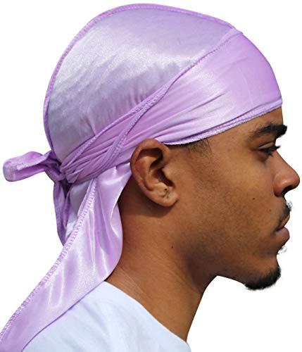 Veeta Superior Silky Durag (Multiple Colors) - Smooth Silk Fabric | Maximum Compression & Comfort (Lavender)