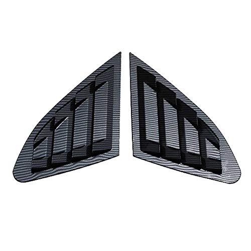 TPHJRM Cubierta del Panel de la Rejilla de ventilación de la Ventana del Cuarto Lateral Trasero del Coche, para Chevy Chevrolet Malibu 2016-2019