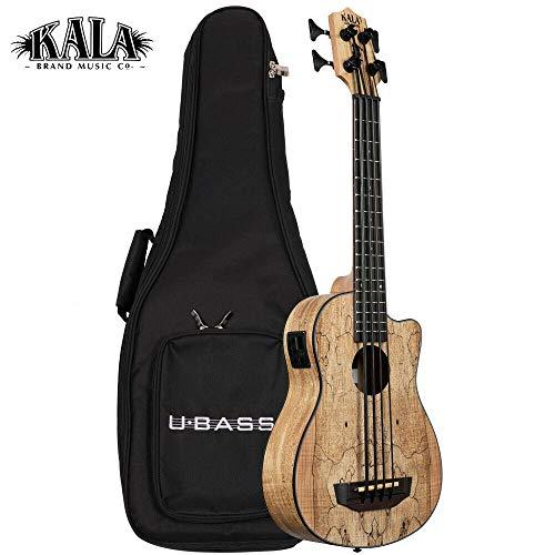 Kala U-Bass SCOUT Cutaway Mahagoni Akustische E-Bass-Ukulele mit gepolsterter Tasche