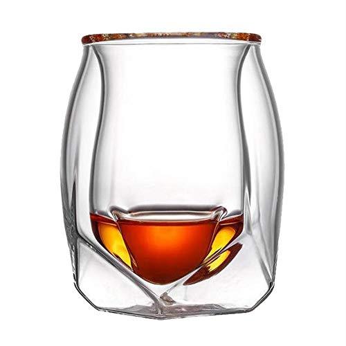 happygirr Vasos de Whisky, 200 ml, Cristal, Vasos de Whisky, Vasos de Vino, Fantasma, Bebida fría, Taza de Doble Pared, Retro, Copas de Vino para Festivales