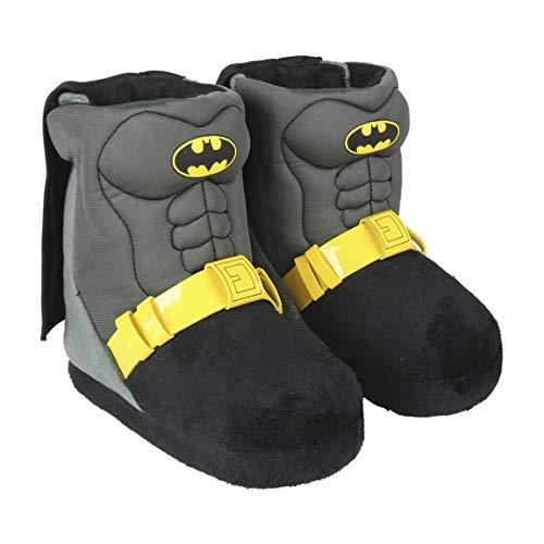 Batman Zapatillas de Estar por Casa para Niños, Pantuflas Cálidas de Felpa Suave y Acogedora, Zapatillas en 3D Súper Divertidas, Diseño Fácil de Poner, Regalo para Niños! Talla 30/31