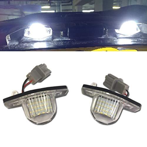 GOFORJUMP 2pcs LED Nombre lumière Lampe de Plaque d'immatriculation pour H/Onda J/Azz Fit C/RV O/DYSSEY F/RV H/RV I/Flux de Nuit Crosstour