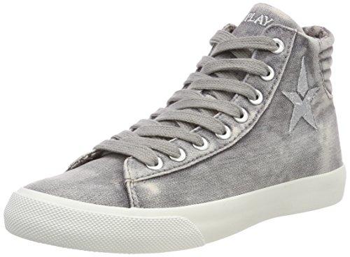 Replay Damen Edna Hohe Sneaker, Grau (Grey), 36 EU