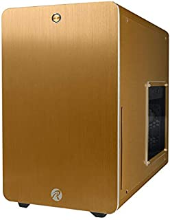 RAIJINTEK Styx Micro-Tower Oro - Caja de Ordenador (Micro-Tower, PC, Aluminio, SPCC, Oro, Micro ATX,Mini-ITX, 18 cm)
